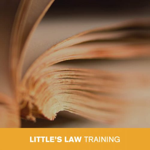 Online Little's Law Training